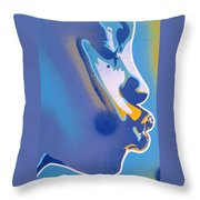 Kiss Series Blues And Yellows Throw Pillow