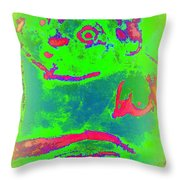 You Can Kiss The Frog If You Want To  Throw Pillow