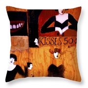 Kisses  - 50 Cents Throw Pillow