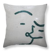 Kisses - Tile Throw Pillow