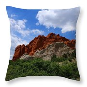 Kissing Camels - Garden Of The Gods Throw Pillow