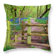 Kissing Gate Painting. Throw Pillow