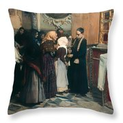 Kissing The Relic Throw Pillow