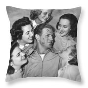 Kissoff For The Navy Throw Pillow