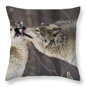 Kissy Face Throw Pillow