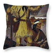 Kit Carson (1809-1868) Throw Pillow