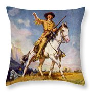 Kit Carson American Frontiersman Throw Pillow