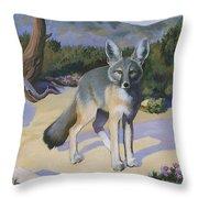 Kit Fox Throw Pillow