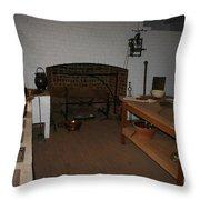 Kitchen At Monticello Throw Pillow