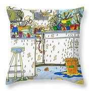 Kitchen Catastrophe Throw Pillow