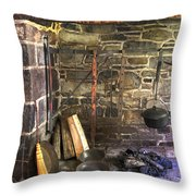 Kitchen - Colonial Pots And Pans Throw Pillow