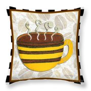 Kitchen Cuisine Hot Cuppa No14 By Romi And Megan Throw Pillow