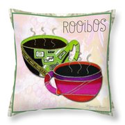 Kitchen Cuisine Rooibos Tea Party By Romi And Megan Throw Pillow