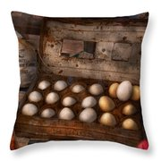 Kitchen - Food - Eggs - 18 Eggs  Throw Pillow