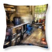 Kitchen - Home Country Kitchen  Throw Pillow