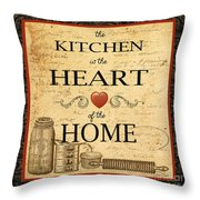 Kitchen Is The Heart Throw Pillow
