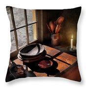 Kitchen - On A Table II  Throw Pillow by Mike Savad