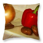 Kitchen Prep Throw Pillow