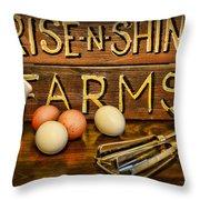 Kitchen  Rise And Shine Throw Pillow