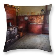 Kitchen - Storybook Cottage Kitchen Throw Pillow by Mike Savad