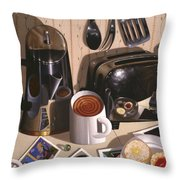 Kitchen Table No.1 1994   Skewed Perspective Series 1991 - 2000 Throw Pillow