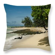 Kite Beach Kanaha Beach Maui Hawaii Throw Pillow