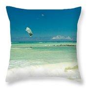 Kite Beach Kanaha Maui Hawaii Throw Pillow