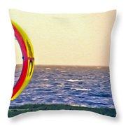 Kite Boarder 2 Throw Pillow