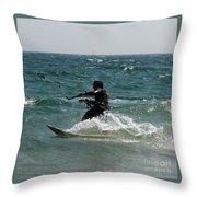 Kite Boarding Fun  Throw Pillow