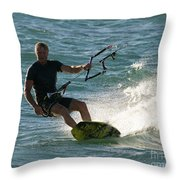 Kite Surfer 05 Throw Pillow