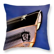 Kite Surfing In Motion Throw Pillow