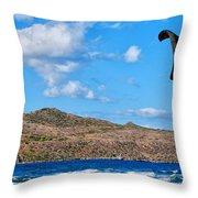 Kitesurfer 02 Throw Pillow by Antony McAulay