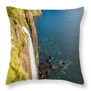 Kitl Rock Waterfall Throw Pillow