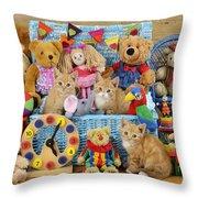 Kitten Dress Box Ck526 Throw Pillow