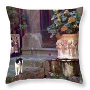 Kitten Italiano Throw Pillow