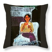 Kitty At Christmas Throw Pillow