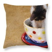 Kitty Cat Time Out Throw Pillow