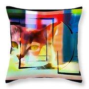 Kitty Eyes Throw Pillow