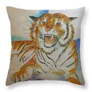 Kitty Mine Throw Pillow