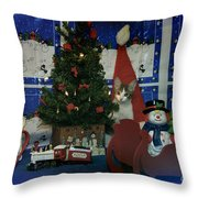 Kitty Says Merry Xmas Throw Pillow