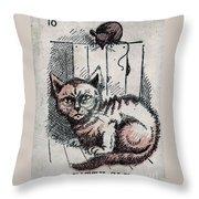 Kitty Sly Throw Pillow