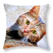 Kitty Strange Throw Pillow