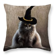 Kitty Witch Throw Pillow