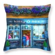 Kitty's In Kinsale Ireland Throw Pillow
