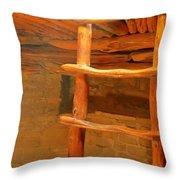 Kiva Ladder Throw Pillow