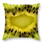 Kiwi Fruit Macro 2 Throw Pillow