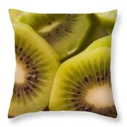 Kiwi For Lunch Throw Pillow