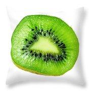 Kiwi On White Throw Pillow