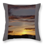 Klamath Golden Sunset Throw Pillow