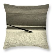 Klamath River Mouth - A Bliss Place Throw Pillow